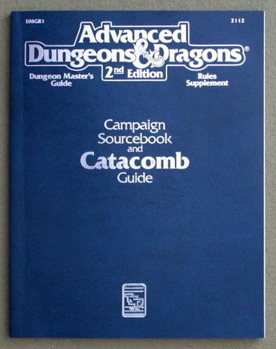 Image for Campaign Sourcebook and Catacomb Guide: Dungeon Master's Guide/Rules Supplement (Advanced Dungeons and Dragons Accessory DMGR1)