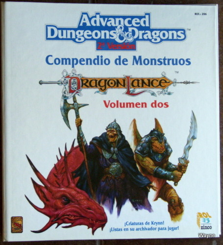 Image for Compendio de Monstruos, Volumen dos: Dragonlance (Advanced Dungeons & Dragons, 2a Version)