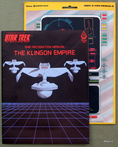 Image for Ship Recognition Manual: The Klingon Empire (Star Trek: The Role-Playing Game)