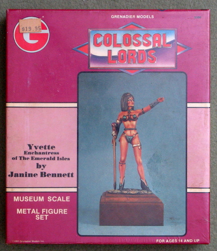Image for Yvette, Enchantress of the Emerald Isles (Colossal Lords: Museum Scale Metal Figure Set)