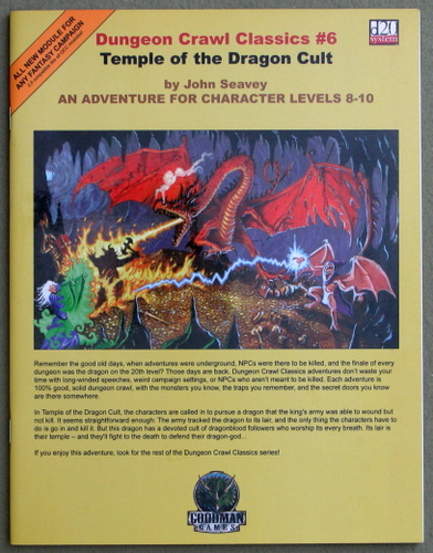 Image for Dungeon Crawl Classics 6: Temple of the Dragon Cult