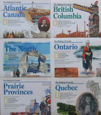 Image for The Making of Canada (National Geographic 6 Map Set)