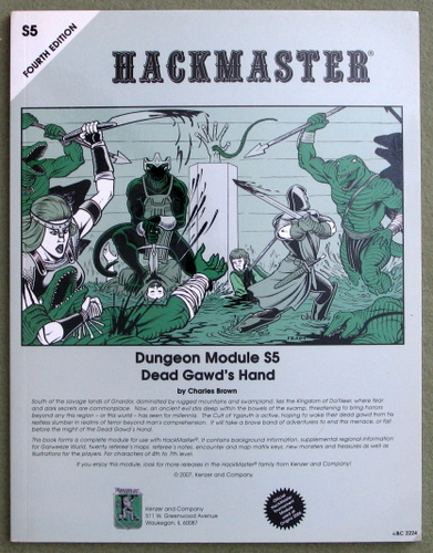 Image for Dead Gawd's Hand (Hackmaster 4th edition Module S5)
