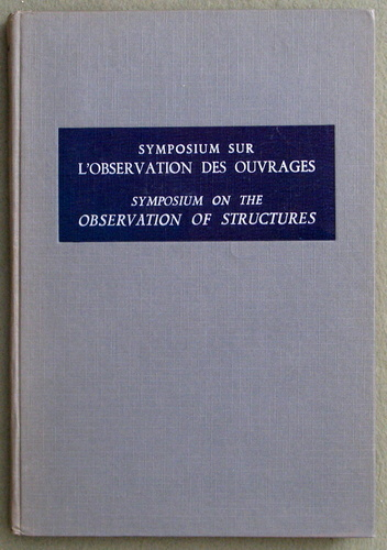 Image for Symposium On The Observation Of Structures, Vol. 1 (Symposium Sur L'Observation Des Ouvrages)