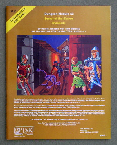 Image for Secret of the Slavers Stockade (Advanced Dungeons & Dragons module A2)