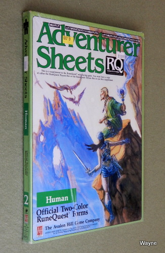 Image for Adventurer Sheets: Human (Runequest)