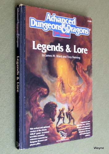 Image for Legends & Lore (Advanced Dungeons and Dragons, 2nd Edition) - PLAY COPY