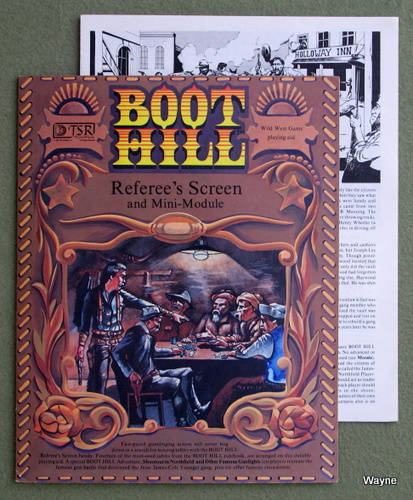 Image for Referee's Screen and Mini-Module (Boot Hill RPG)