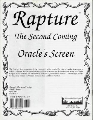 Image for Oracle's Screen (Rapture: The Second Coming)
