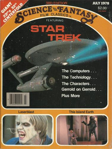 Image for Science Fantasy Film Classics: Featuring Star Trek (July 1978)