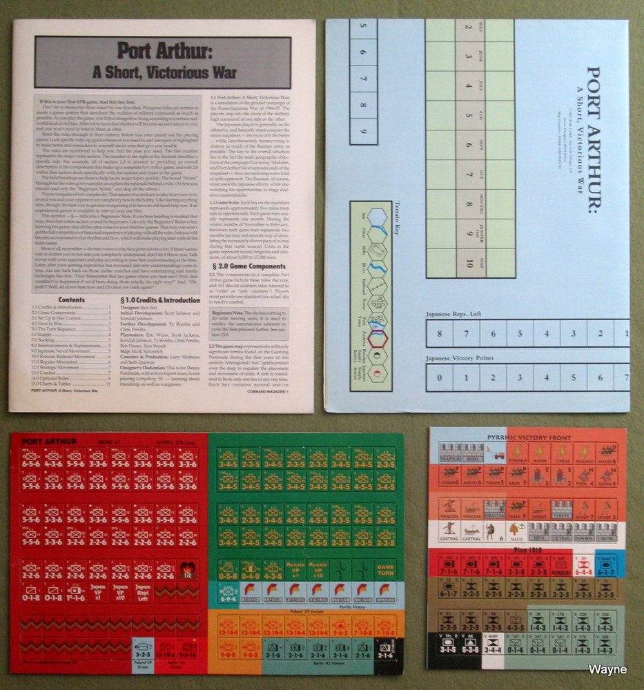 Image for Port Arthur: A Short Victorious War & Pyrrhic Victory Board Games