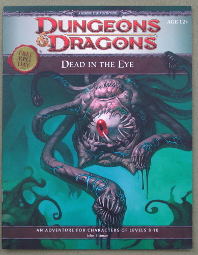 Image for Dead in the Eye (Dungeons & Dragons) - Free RPG Day 2012