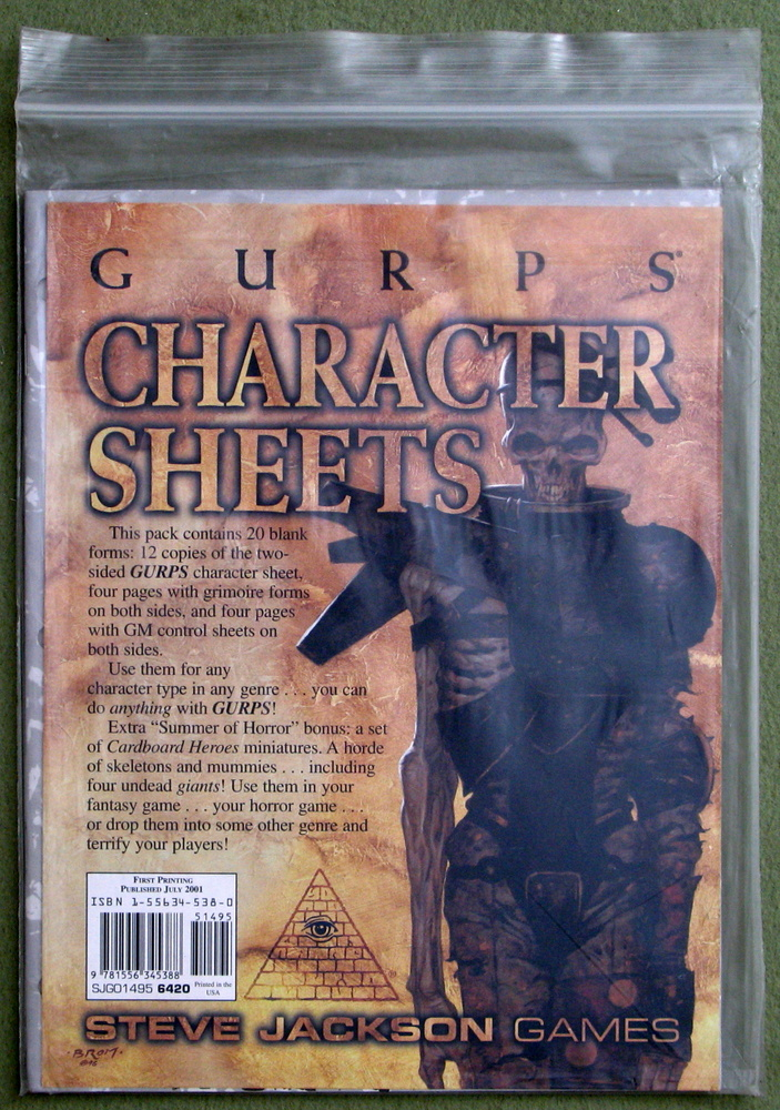 Image for GURPS Character Sheets