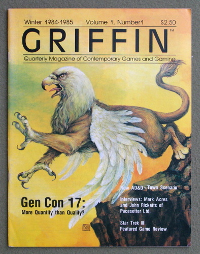 Image for Griffin Magazine, Issue 1 (Winter 1984-1985)