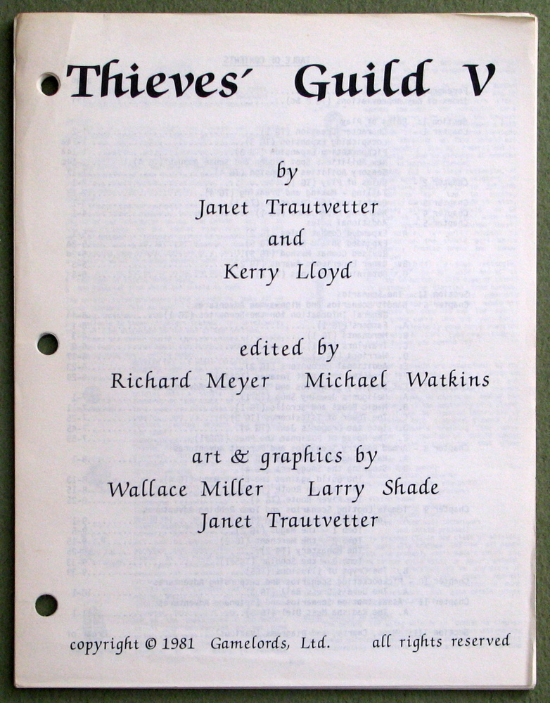 Image for Thieves' Guild V (5) - MISSING COVER