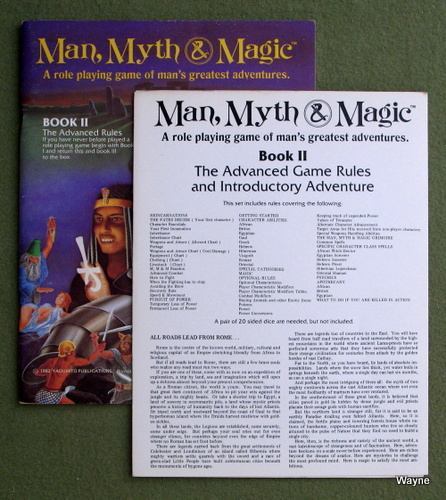 Image for Book II: The Advanced Rules (Man, Myth & Magic RPG)