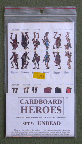 Image for Cardboard Heroes, Set 5: Undead