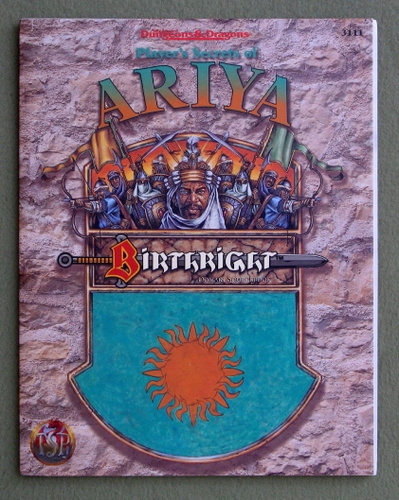 Image for Player's Secrets of Ariya (Advanced Dungeons & Dragons: Birthright Domain Sourcebook)