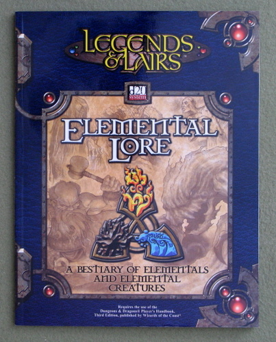 Image for Elemental Lore (Legends & Lairs: D20 System)