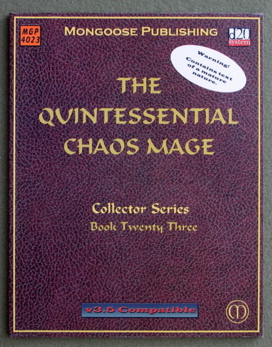 Image for The Quintessential Chaos Mage (Dungeons & Dragons: D20 system)