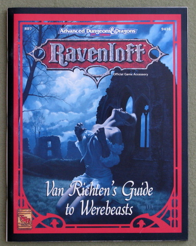 Image for Van Richten's Guide to Werebeasts (Advanced Dungeons & Dragons: Ravenloft Accessory RR7)