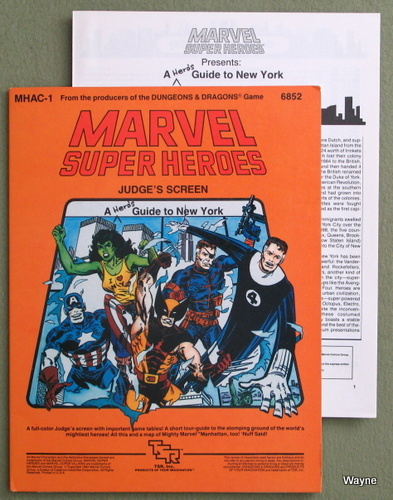 Image for Marvel Super Heroes Judge's Screen: A Hero's Guide to New York (MHAC1)