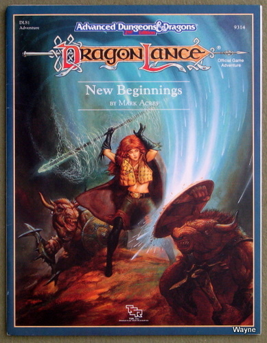 Image for New Beginnings (Advanced Dungeons and Dragons: Dragonlance module DLS1)