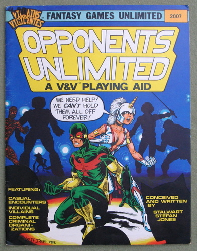 Image for Opponents Unlimited: A Villains & Vigilantes Playing Aid