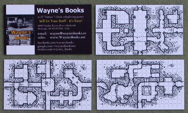 dungeon geomorph business cards