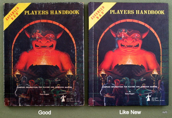 AD&D Players Handbook condition examples